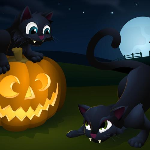 Halloween Kitties wallpaper