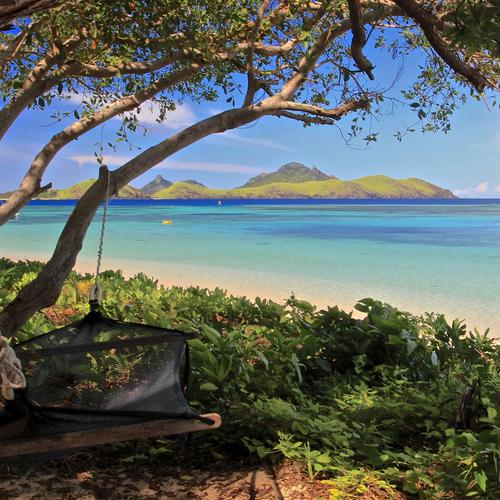 Hammock on Beach Fiji wallpaper