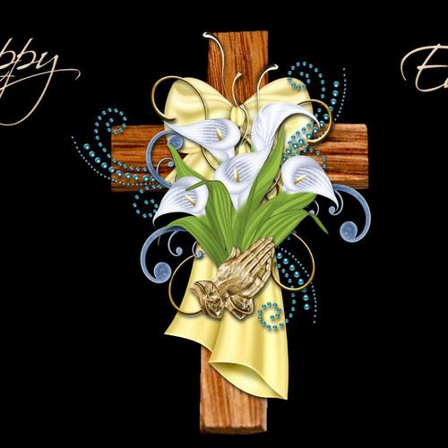 Happy Easter Cross wallpaper