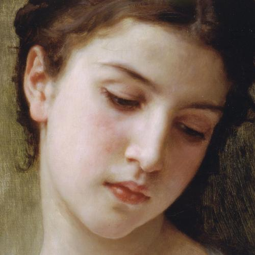 Head Of A Young Girl painting By Bouguereau wallpaper
