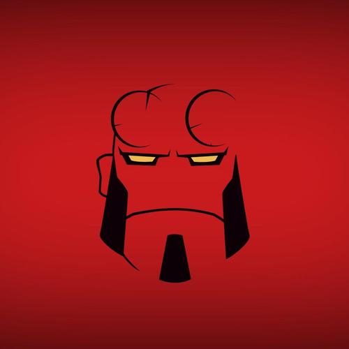 Hellboy minimalism wallpaper