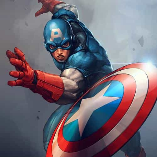 hero captain america jeehyunglee illustration art paint