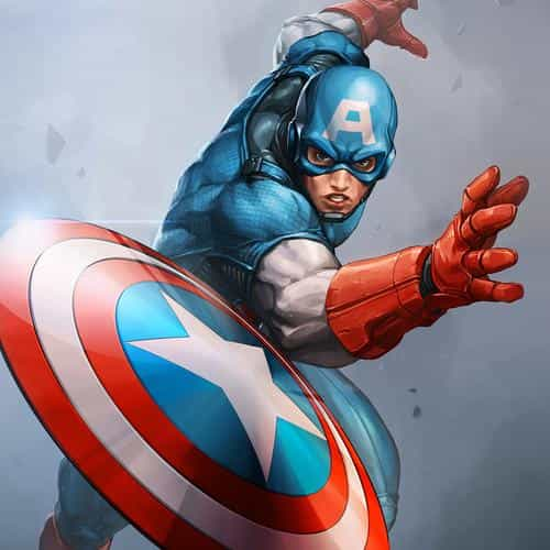 hero captain america jeehyunglee illustration art