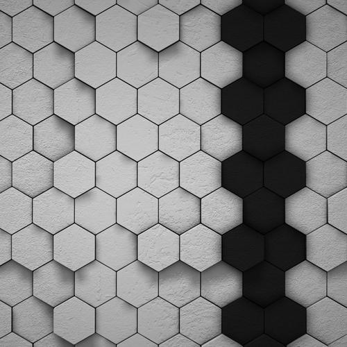 Hexagon door wallpaper
