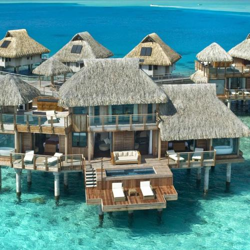 Hilton Bora Bora Hotel Water Bungalow wallpaper