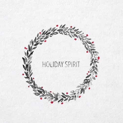 holiday spirit minimal christmas art