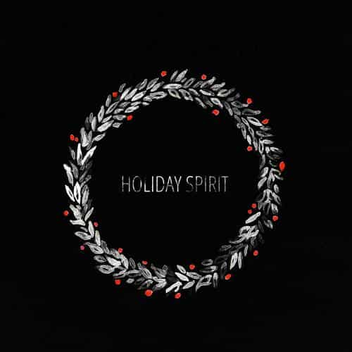 holiday spirit minimal dark christmas art