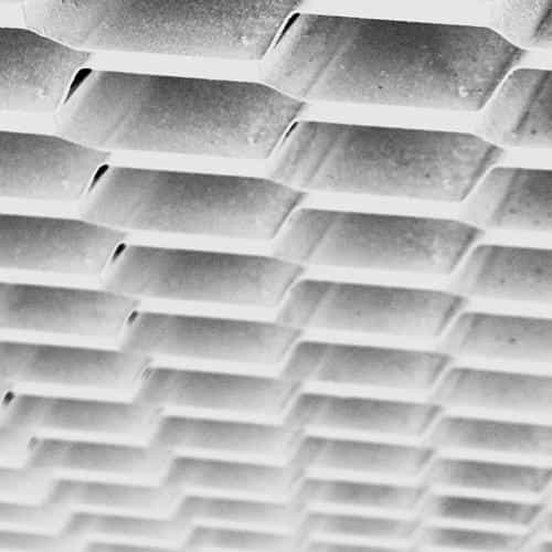 honeycomb metal white pattern