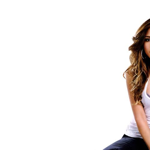 Hot Jessica Alba in white tank top wallpaper