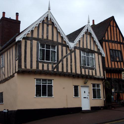 House at Lavenham village wallpaper