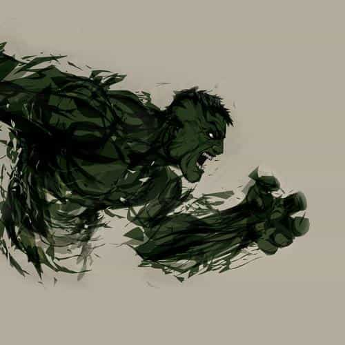 hulk illust anger minimal hero art