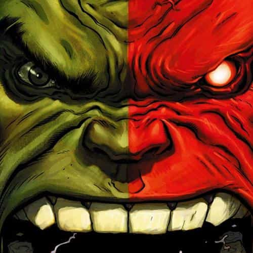 hulk red anger cartoon illustration art dark