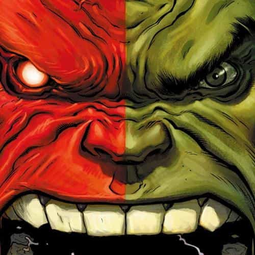 hulk red anger cartoon illustration art