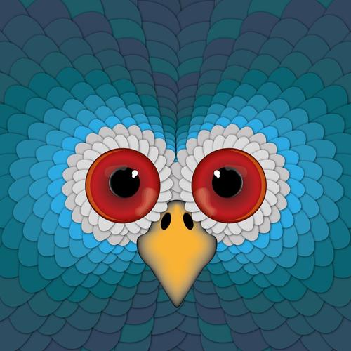 Hypnotic bird eyes wallpaper
