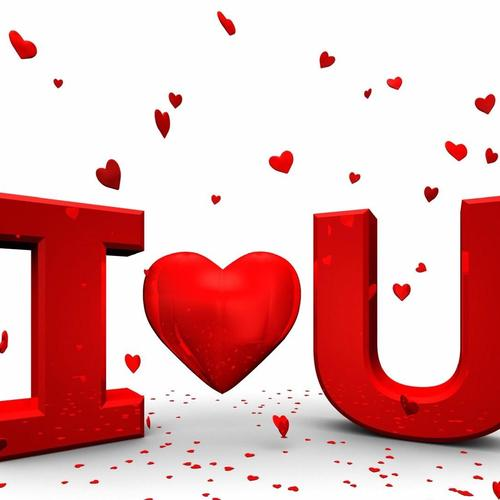I Love You 3D text tapeta