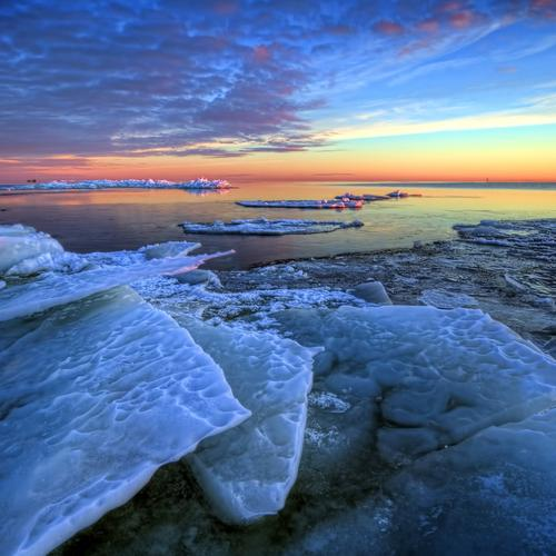 Ice seascape wallpaper