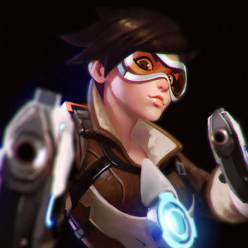 ilya kuvshinov overwatch tracer hero game illustration art