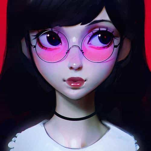ilya kuvshinov red girl illustration art