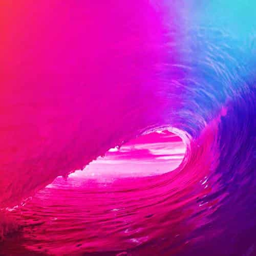 ios9 apple wave rainbow sea ocean red