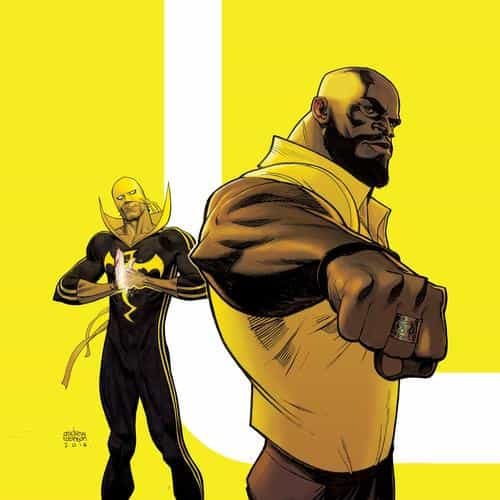 ironfist marvel yellow hero illustration art