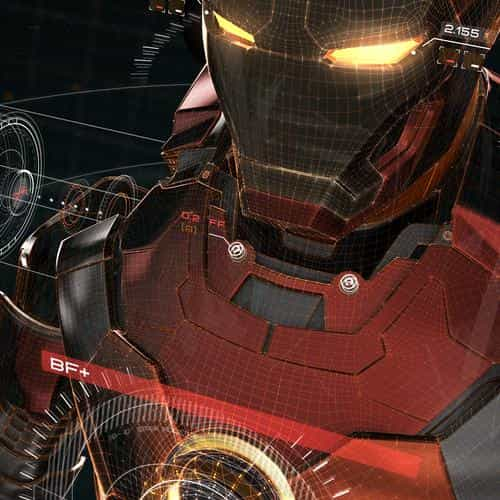 ironman 3d red game avengers art illustration hero