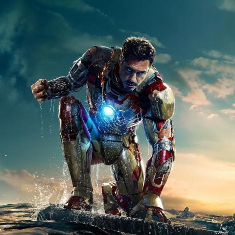 ironman in hero poseture art