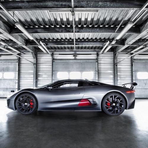 Jaguar C-X75 Hybrid Supercar Prototype Garage