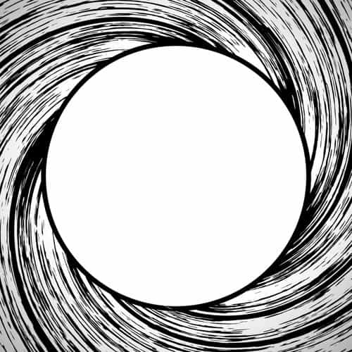 james bond circle bw pattern