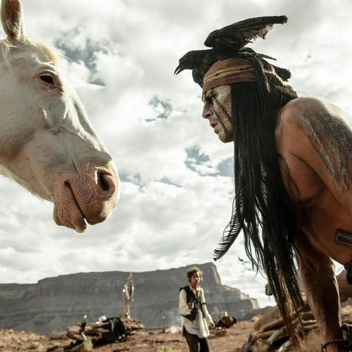 Johnny Depp in The Lone Ranger Film hintergrund