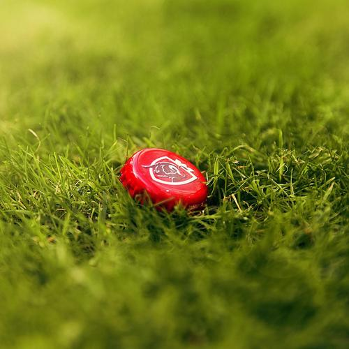 Jupiler Bottle Caps on the Grass wallpaper