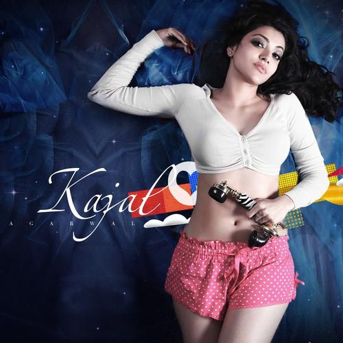 Kajal Agarwal in crop top shirt wallpaper