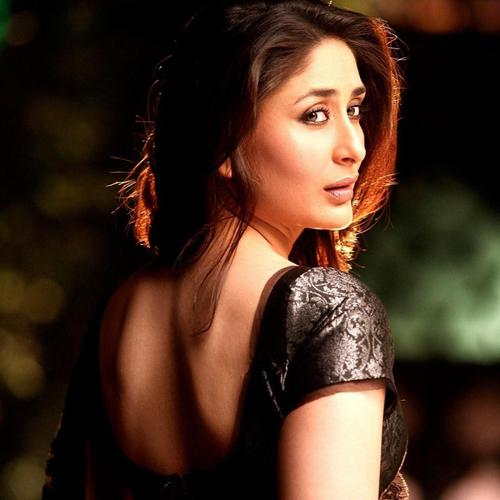 Kareena in Black Saree wallpaper