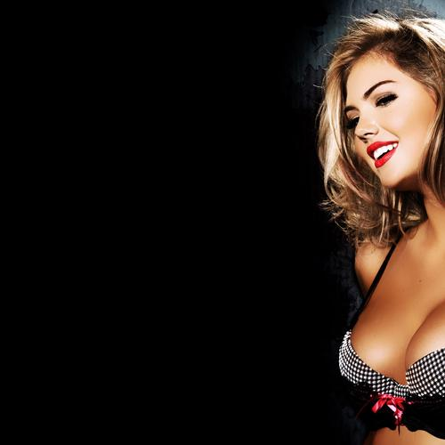 Kate Upton sexy with bra