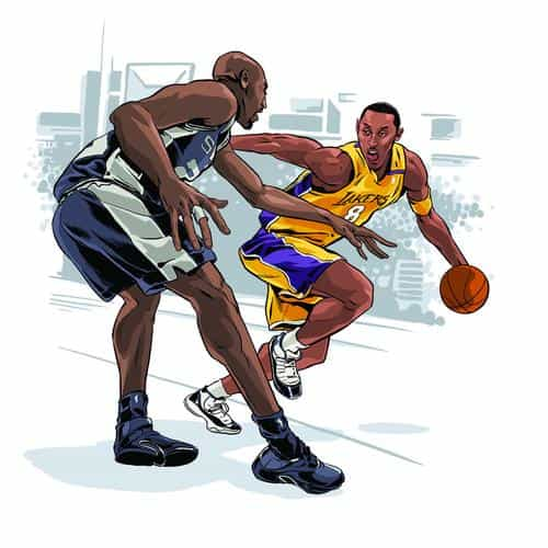 kobe bryant ankle breaker sports nba art