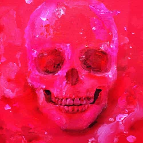 kpop exid cover skull red art illustration