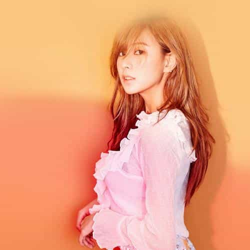 kpop girl apink hayoung orange red