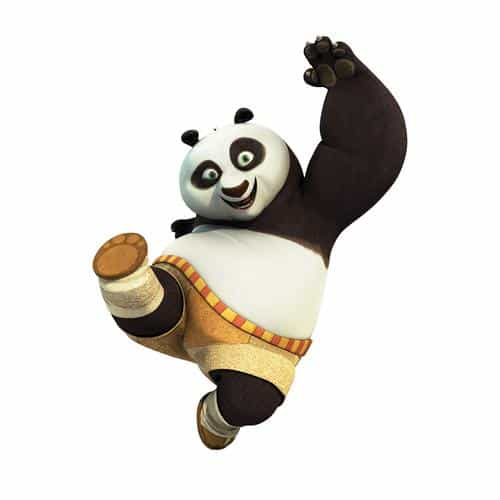 kungfu panda animal dreamworks kick cute anime