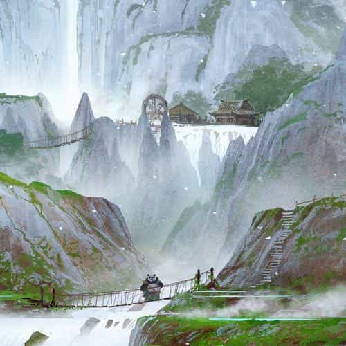 kungfu panda background art illust film