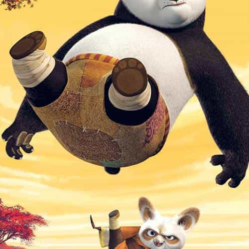 kungfu panda dreamworks art kick cute anime
