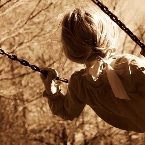 l, child, swing, sepia HD wallpaper