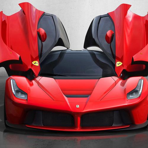 La ferrari front with wing door
