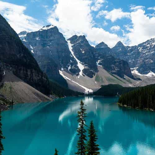 lake louise mountain lake fantastic nature