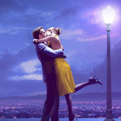 lalaland film love illustration art purple