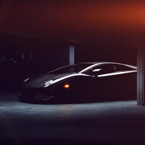 lamborghini car dark black flare