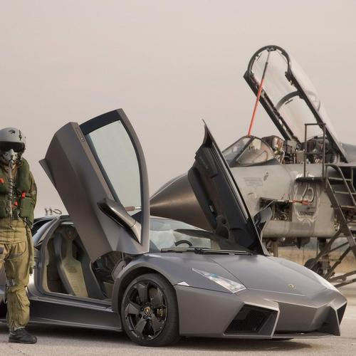 Lamborghini Vs Air Fighter wallpaper