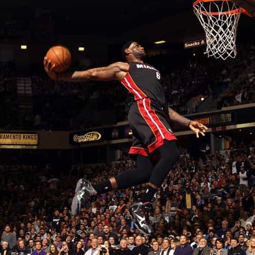 lebron james dunk nba sports art basketball