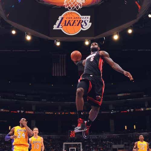 lebron james nba basketball dunk