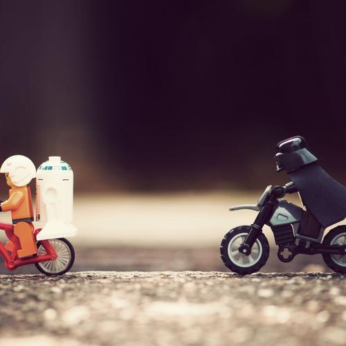 Lego Star Wars chasing wallpaper