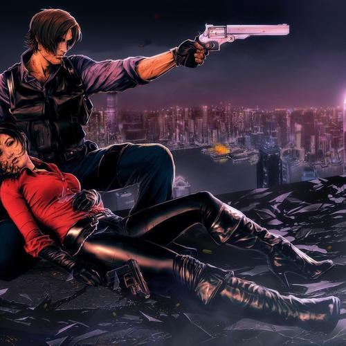 Leon and Ada from Resident Evil wallpaper