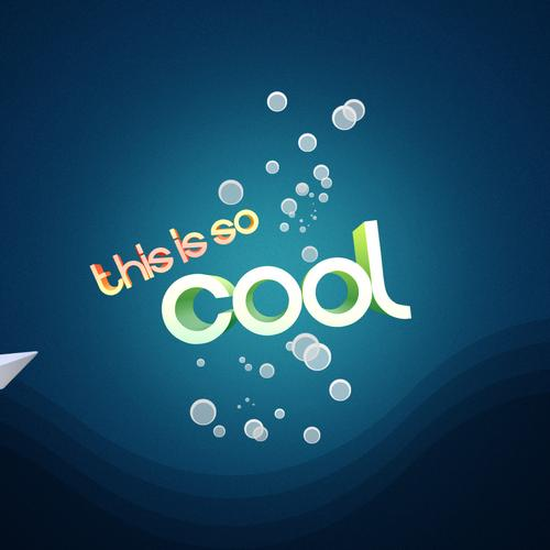 Life is so cool 3d text wallpaper